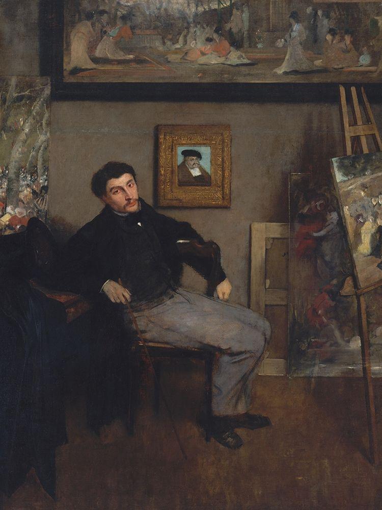 konfigurieren des Kunstdrucks in Wunschgröße Portrait of James Tissot von Degas, Edgar