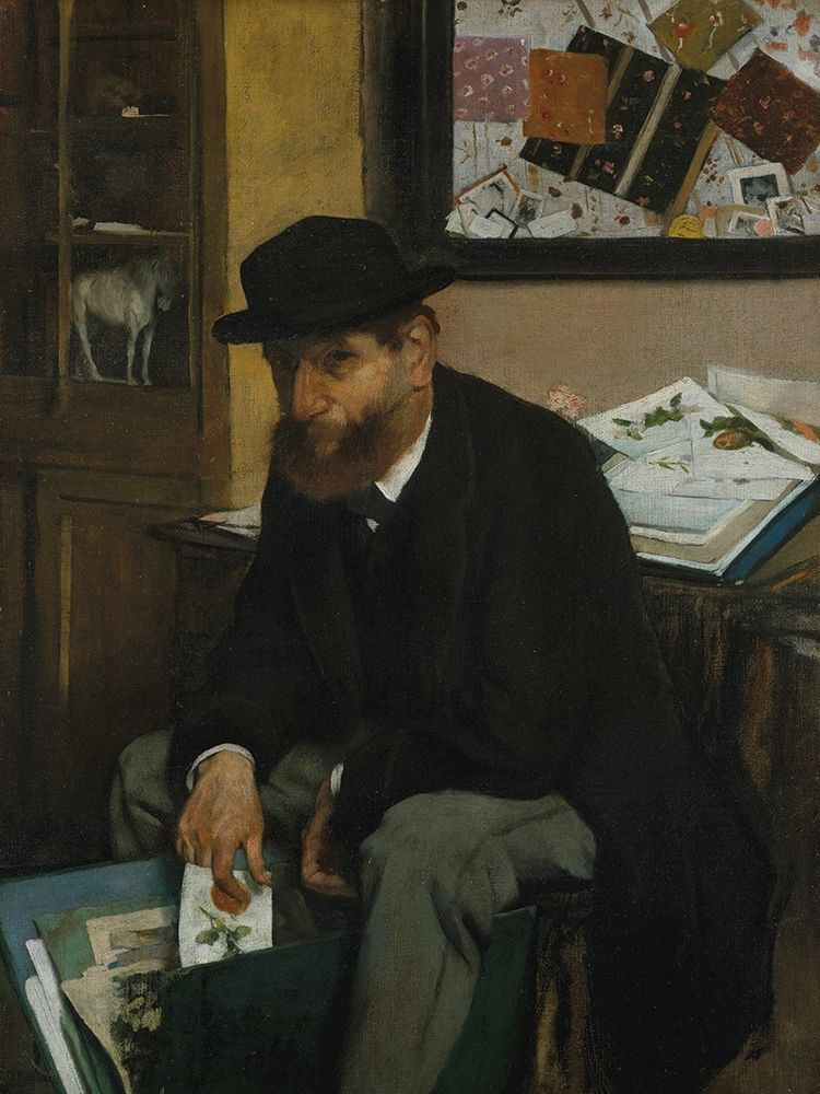 konfigurieren des Kunstdrucks in Wunschgröße The Collector of Prints von Degas, Edgar