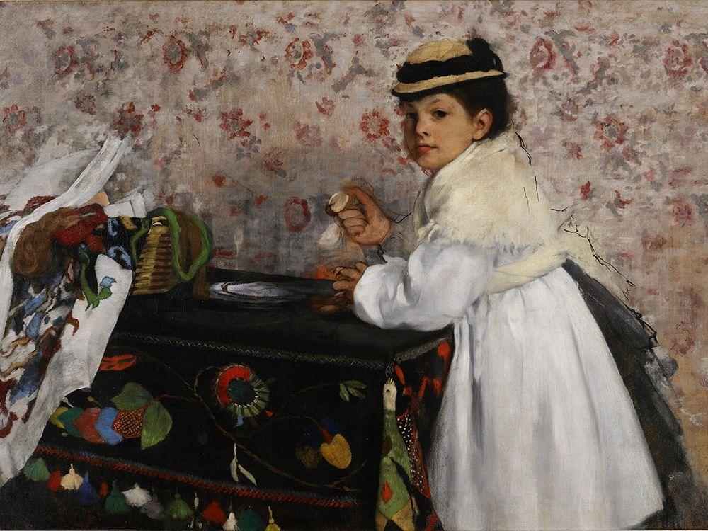 konfigurieren des Kunstdrucks in Wunschgröße Portrait of Mlle. Hortense Valpincon von Degas, Edgar