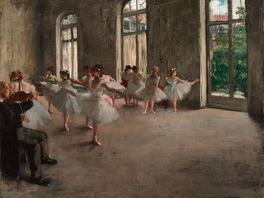 konfigurieren des Kunstdrucks in Wunschgröße Ballet Rehearsal von Degas, Edgar