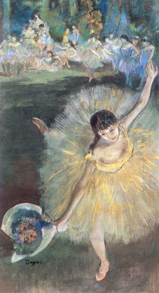 konfigurieren des Kunstdrucks in Wunschgröße Fin dArabesque, with ballerina┬áRosita Mauri von Degas, Edgar