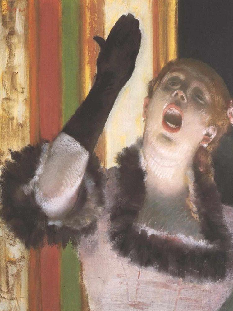 konfigurieren des Kunstdrucks in Wunschgröße The Singer with the Glove von Degas, Edgar