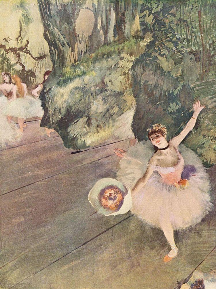 konfigurieren des Kunstdrucks in Wunschgröße Dancer with a Bouquet of Flowers von Degas, Edgar