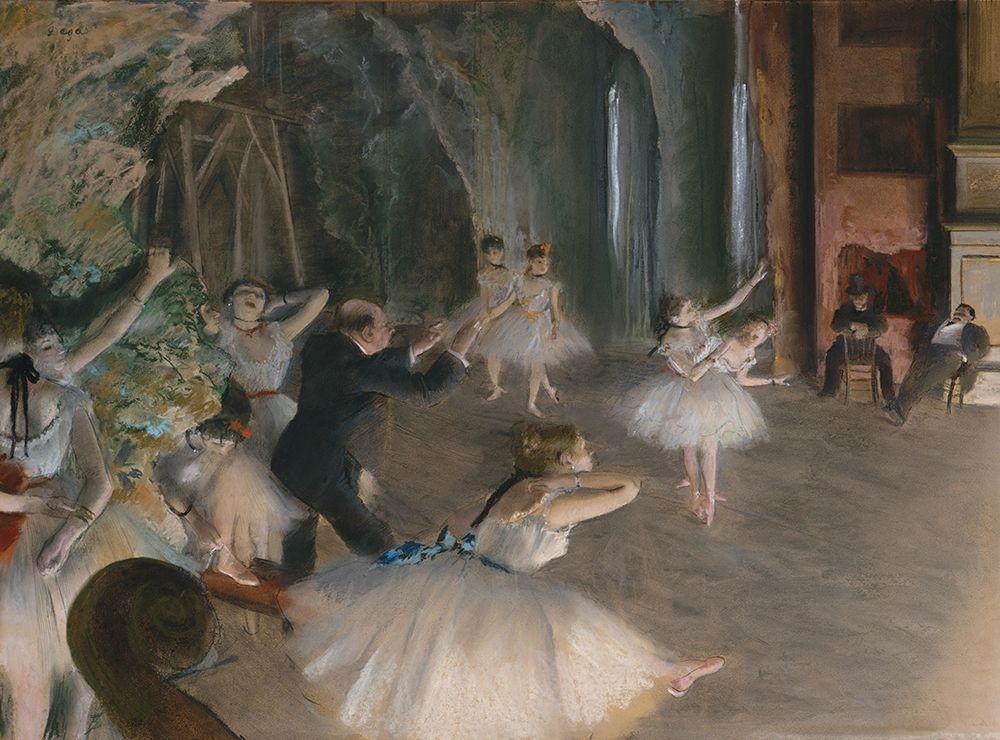 konfigurieren des Kunstdrucks in Wunschgröße Stage Rehearsal von Degas, Edgar