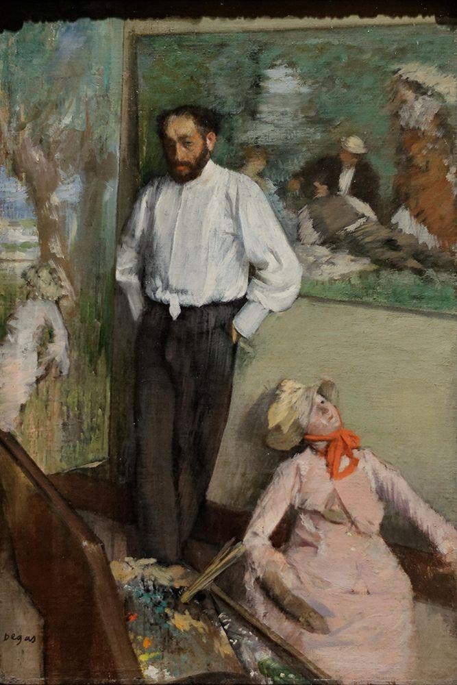 konfigurieren des Kunstdrucks in Wunschgröße Portrait of┬áHenri Michel-L├®vy von Degas, Edgar
