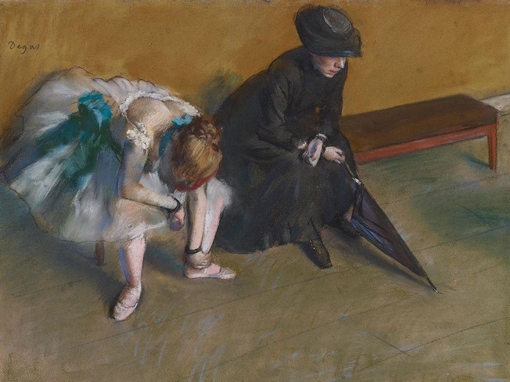 konfigurieren des Kunstdrucks in Wunschgröße Waiting von Degas, Edgar