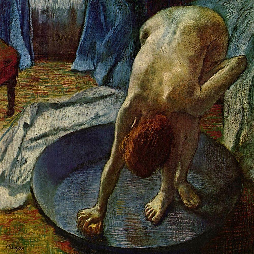 konfigurieren des Kunstdrucks in Wunschgröße Woman in a Tub von Degas, Edgar