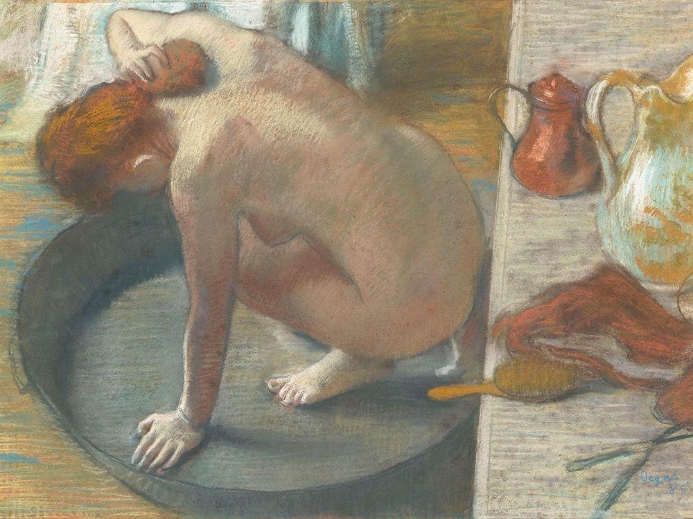 konfigurieren des Kunstdrucks in Wunschgröße The Tub von Degas, Edgar