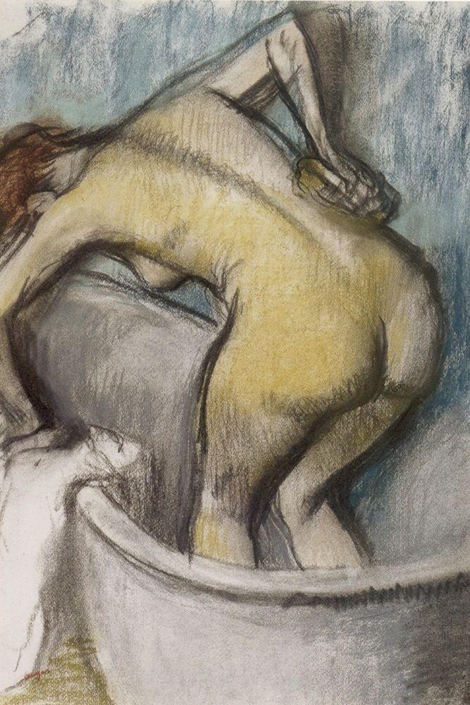 konfigurieren des Kunstdrucks in Wunschgröße The Bath: Woman Supporting Her Back von Degas, Edgar