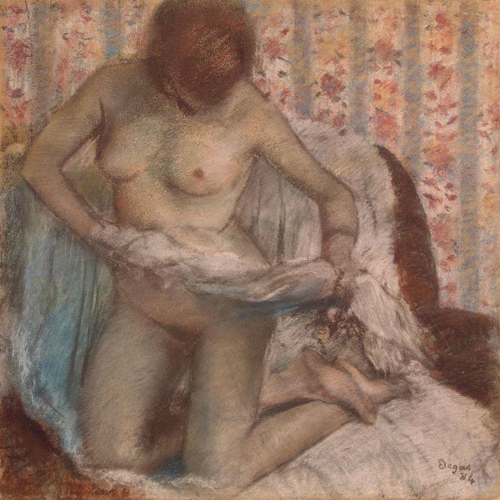 konfigurieren des Kunstdrucks in Wunschgröße Kneeling Woman von Degas, Edgar