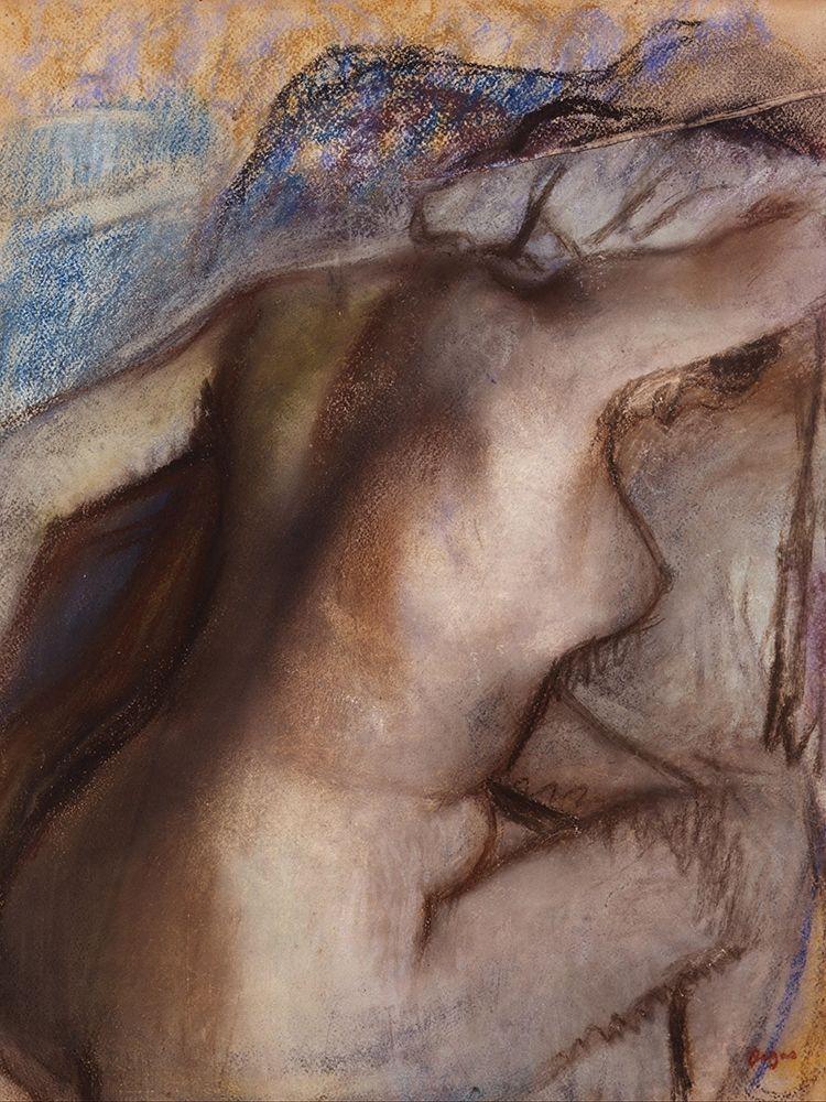 konfigurieren des Kunstdrucks in Wunschgröße After the Bath, Woman Drying Herself von Degas, Edgar