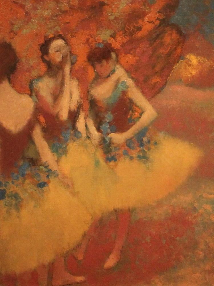 konfigurieren des Kunstdrucks in Wunschgröße Three Dancers in Yellow Skirts von Degas, Edgar