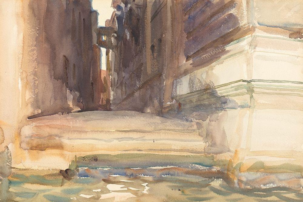 konfigurieren des Kunstdrucks in Wunschgröße The Calle della Rosa with the Monte di Pieta, Venice von Sargent, John Singer