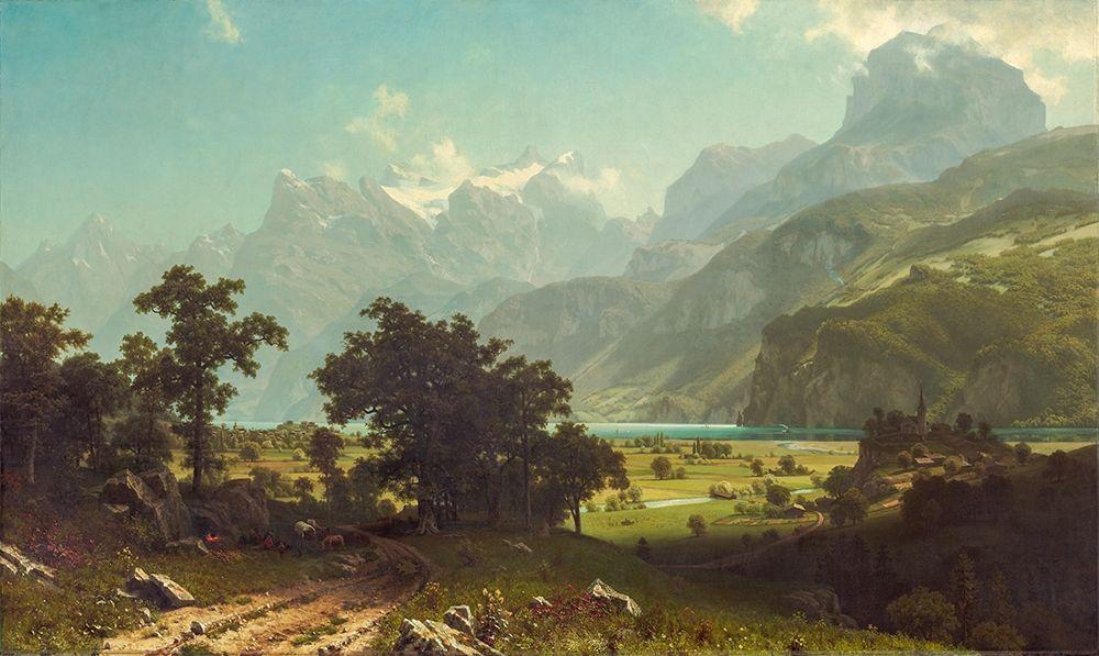 konfigurieren des Kunstdrucks in Wunschgröße Lake Lucerne von Bierstadt, Albert