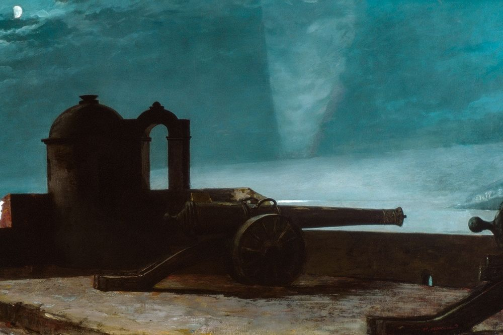 konfigurieren des Kunstdrucks in Wunschgröße Searchlight on Harbor Entrance, Santiago de Cuba von Bierstadt, Albert