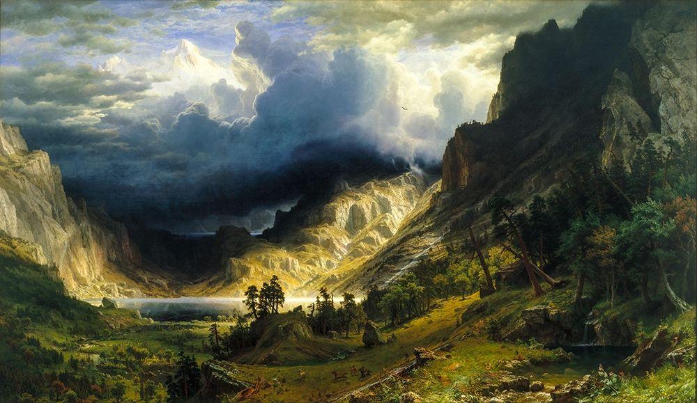 konfigurieren des Kunstdrucks in Wunschgröße A Storm in the Rocky Mountains, Mt. Rosalie von Bierstadt, Albert