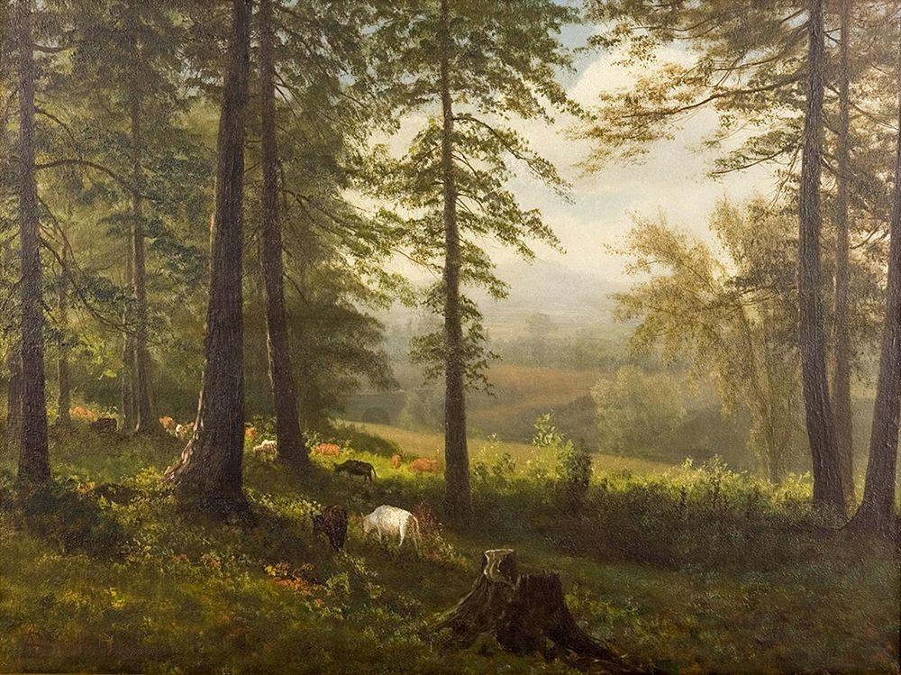 konfigurieren des Kunstdrucks in Wunschgröße View to a Clearing von Bierstadt, Albert