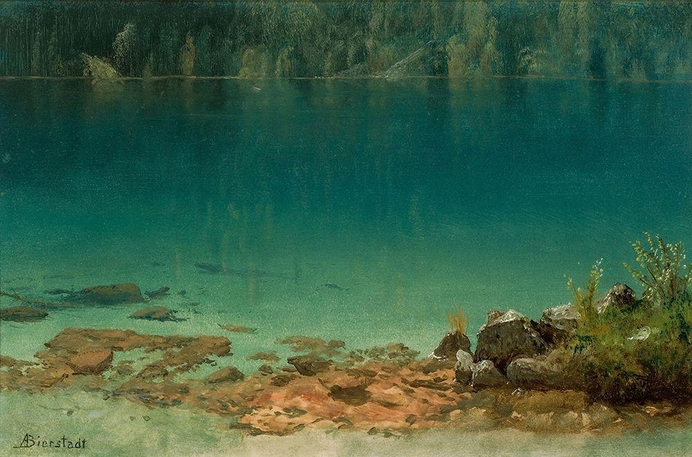 konfigurieren des Kunstdrucks in Wunschgröße Lake Scene von Bierstadt, Albert