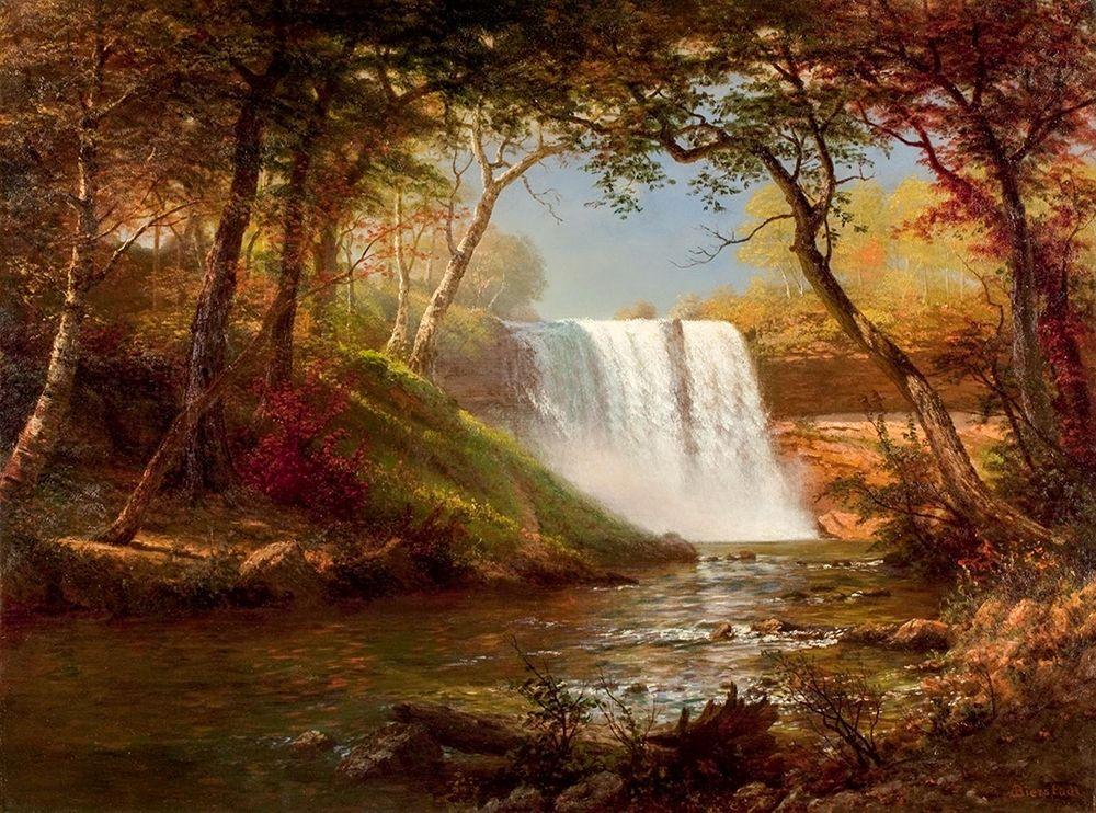 konfigurieren des Kunstdrucks in Wunschgröße Minnehaha Falls von Bierstadt, Albert