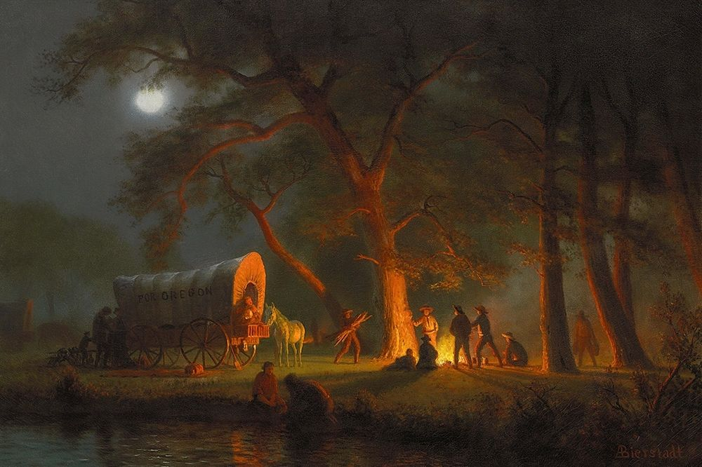 konfigurieren des Kunstdrucks in Wunschgröße Oregon Trail von Bierstadt, Albert