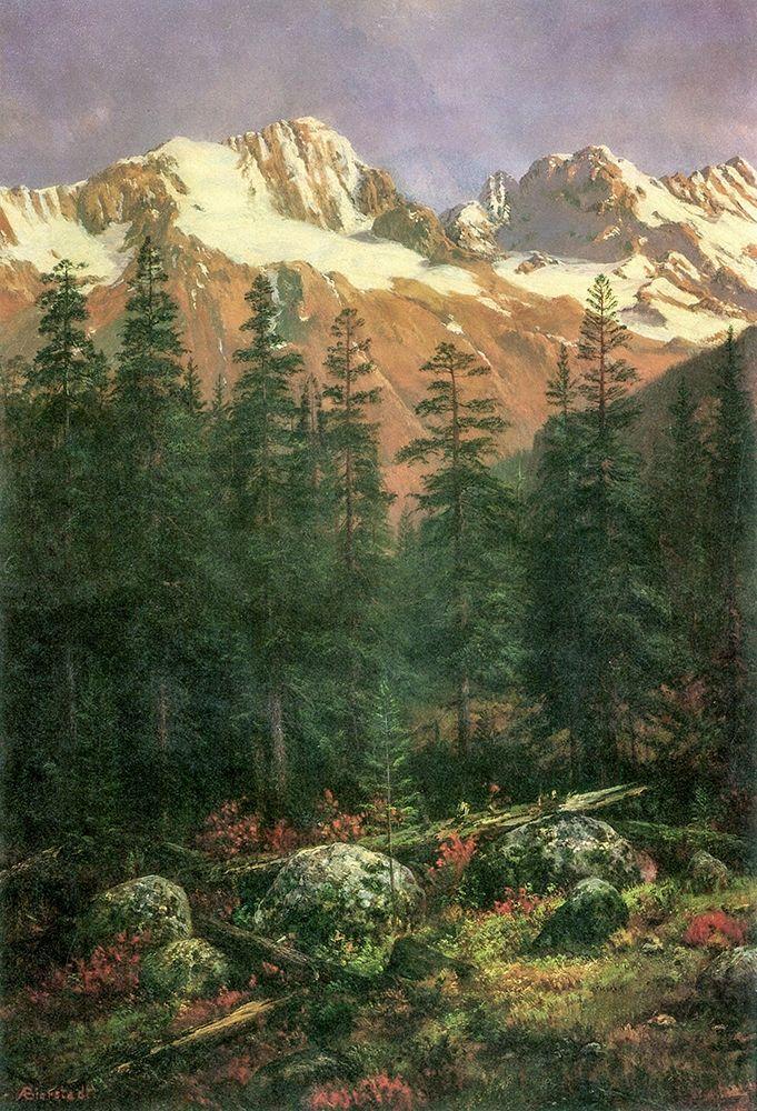 konfigurieren des Kunstdrucks in Wunschgröße Canadian Rockies von Bierstadt, Albert