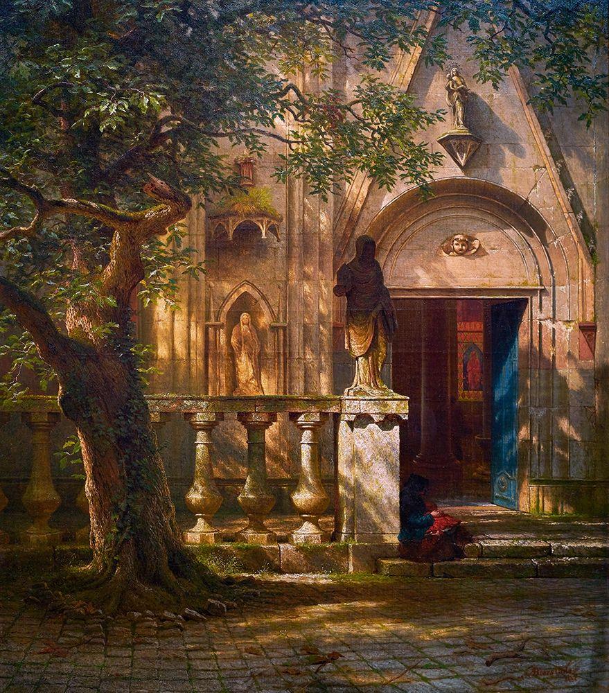 konfigurieren des Kunstdrucks in Wunschgröße Sunlight and Shadow von Bierstadt, Albert