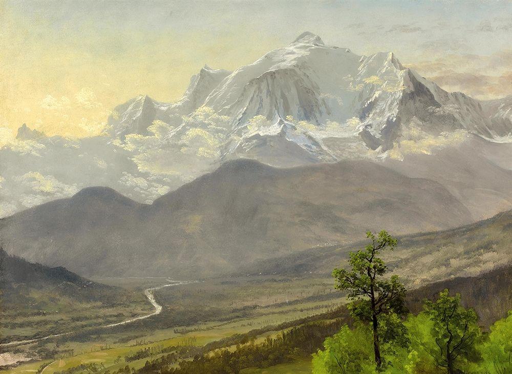 konfigurieren des Kunstdrucks in Wunschgröße Mont Blanc von Bierstadt, Albert