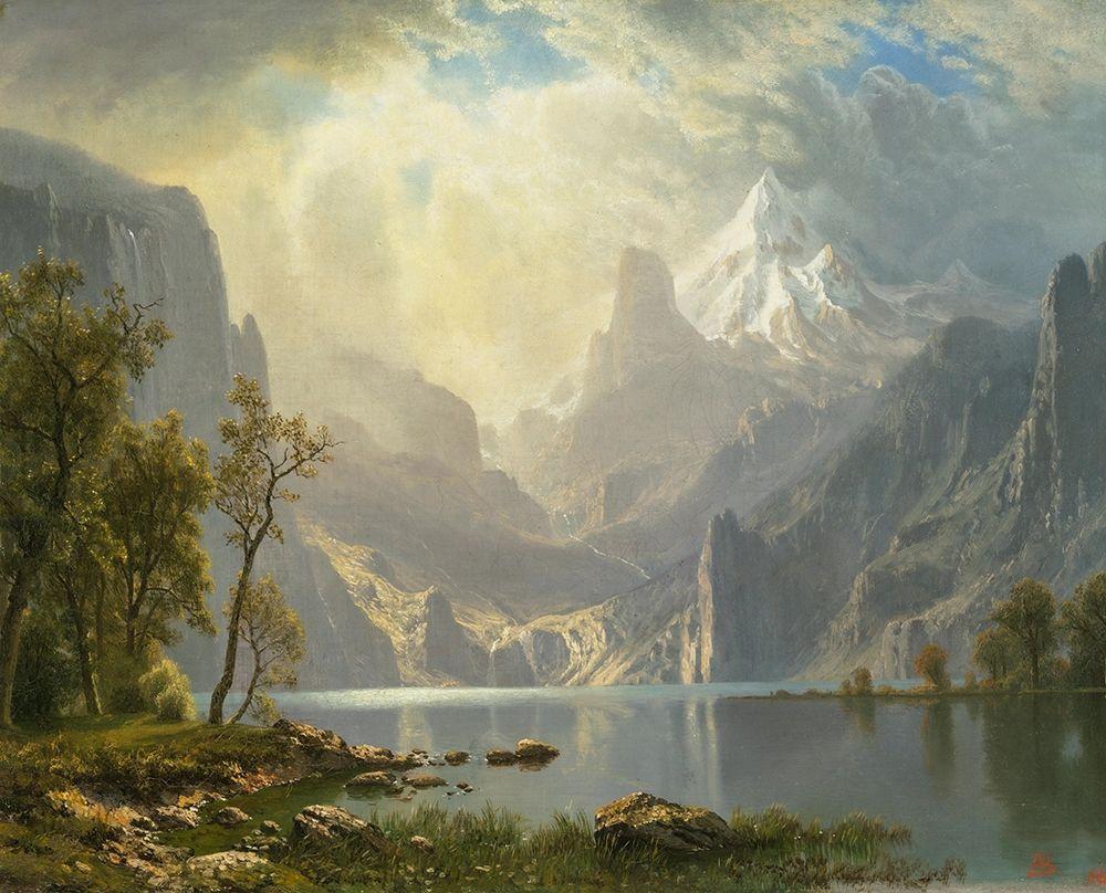 konfigurieren des Kunstdrucks in Wunschgröße In the Sierras, Lake Tahoe von Bierstadt, Albert
