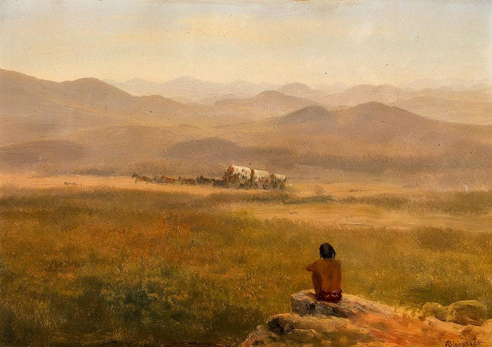 konfigurieren des Kunstdrucks in Wunschgröße The Lookout von Bierstadt, Albert