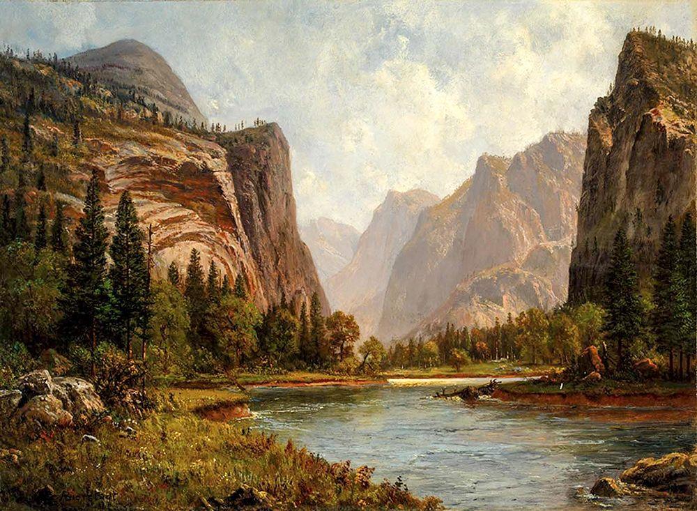 konfigurieren des Kunstdrucks in Wunschgröße Gates of the Yosemite von Bierstadt, Albert