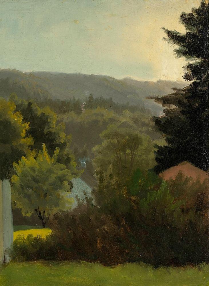 konfigurieren des Kunstdrucks in Wunschgröße Forested hills von Bierstadt, Albert