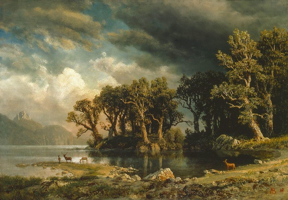 konfigurieren des Kunstdrucks in Wunschgröße The coming storm von Bierstadt, Albert