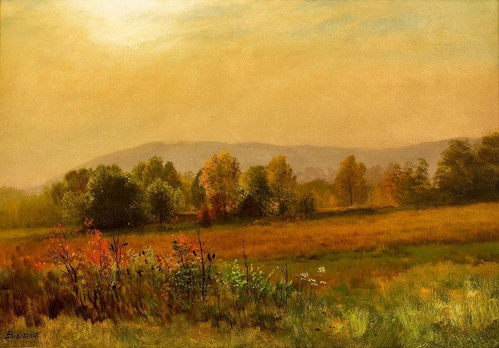 konfigurieren des Kunstdrucks in Wunschgröße Autumn Landscape von Bierstadt, Albert