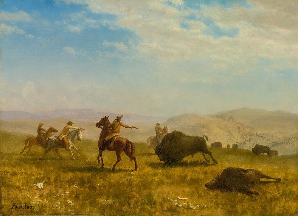 konfigurieren des Kunstdrucks in Wunschgröße The Wild West von Bierstadt, Albert