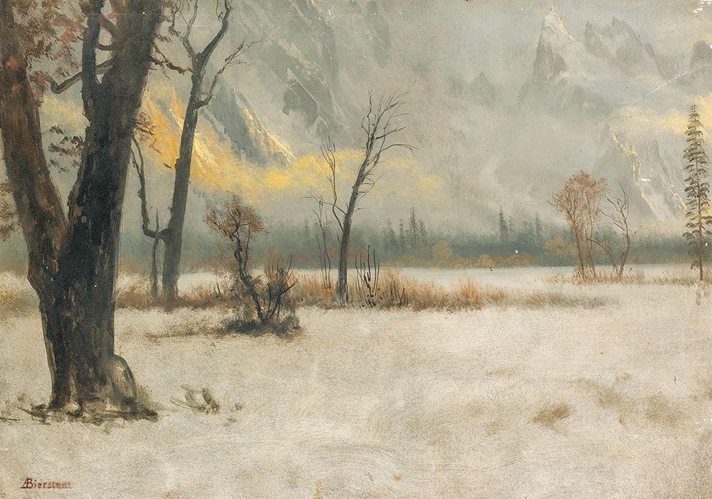 konfigurieren des Kunstdrucks in Wunschgröße Winter landscape von Bierstadt, Albert