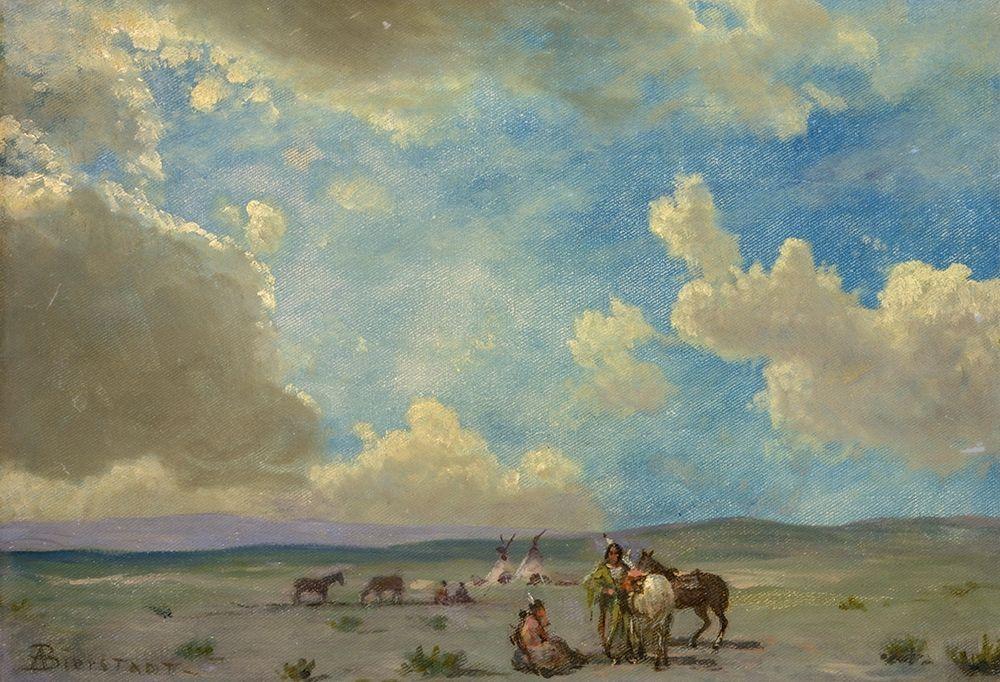 konfigurieren des Kunstdrucks in Wunschgröße Indian Encampment von Bierstadt, Albert