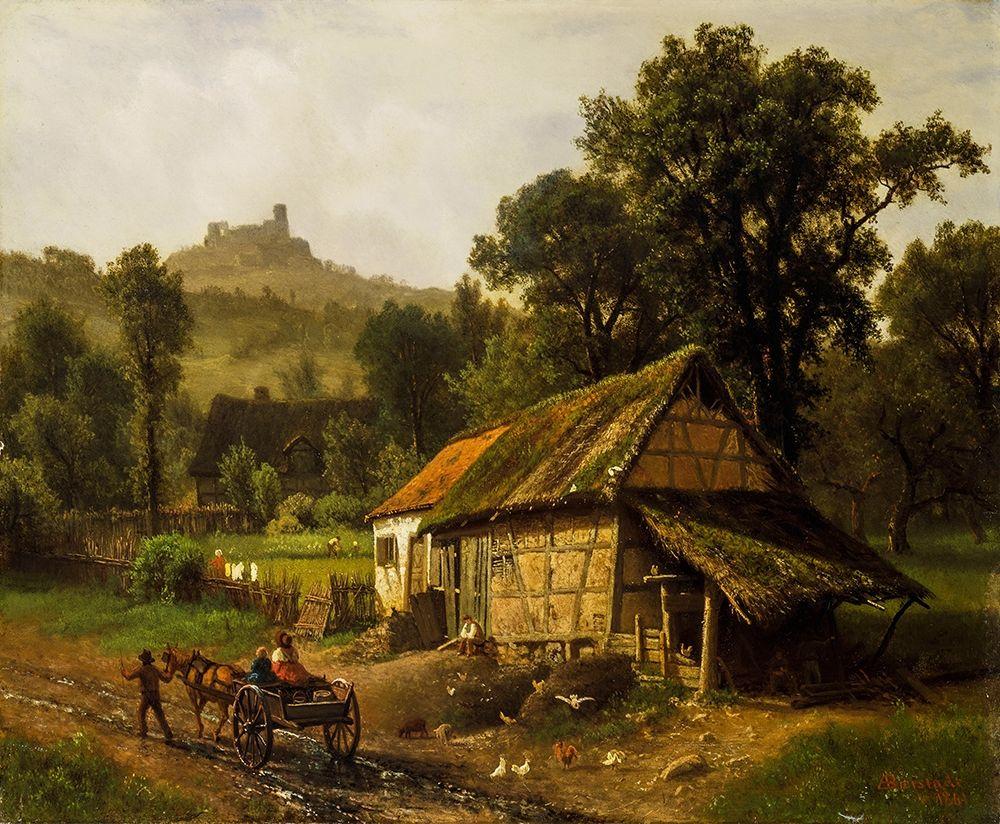 konfigurieren des Kunstdrucks in Wunschgröße In the Foothills von Bierstadt, Albert
