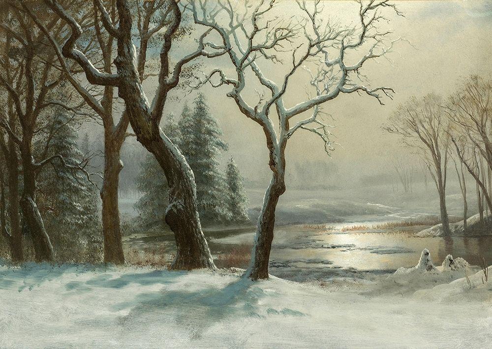 konfigurieren des Kunstdrucks in Wunschgröße Winter in Yosemite von Bierstadt, Albert