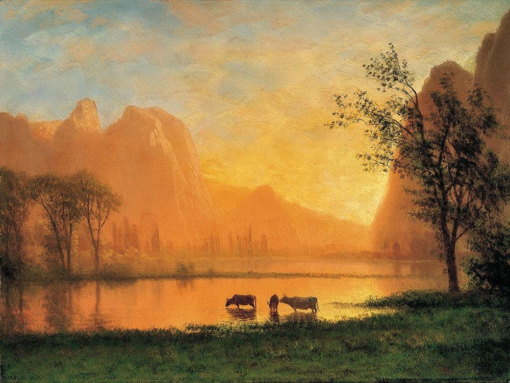 konfigurieren des Kunstdrucks in Wunschgröße Sundown at Yosemite von Bierstadt, Albert