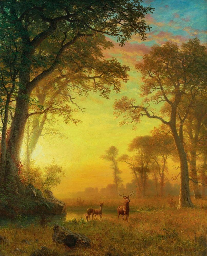konfigurieren des Kunstdrucks in Wunschgröße Light in the Forest von Bierstadt, Albert