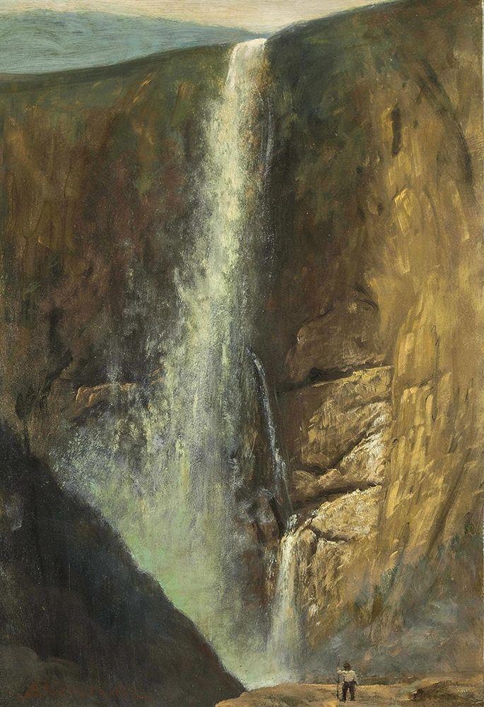 konfigurieren des Kunstdrucks in Wunschgröße The Falls von Bierstadt, Albert