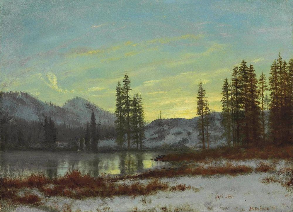 konfigurieren des Kunstdrucks in Wunschgröße Snow in the Rockies von Bierstadt, Albert