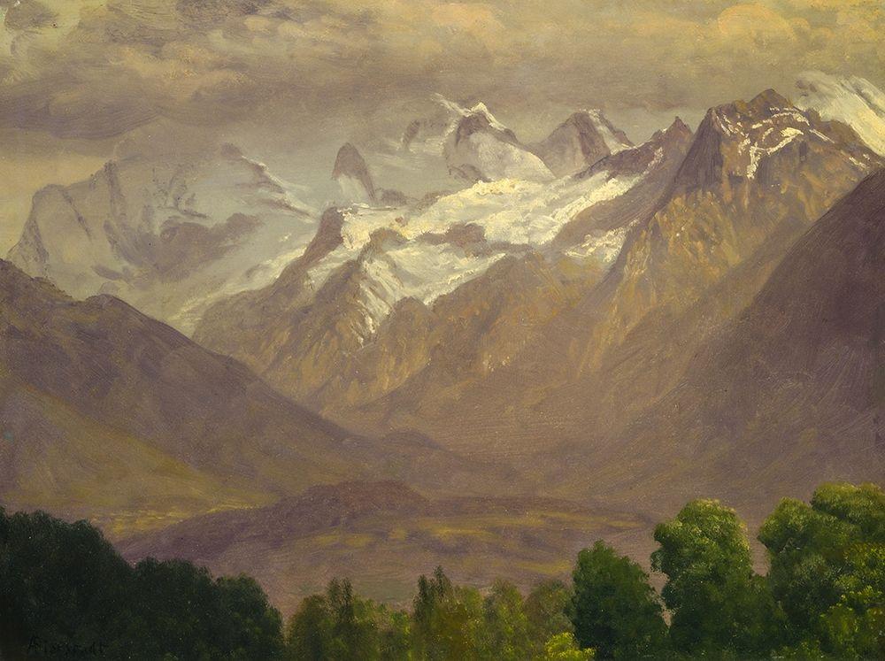konfigurieren des Kunstdrucks in Wunschgröße In the High Mountains von Bierstadt, Albert