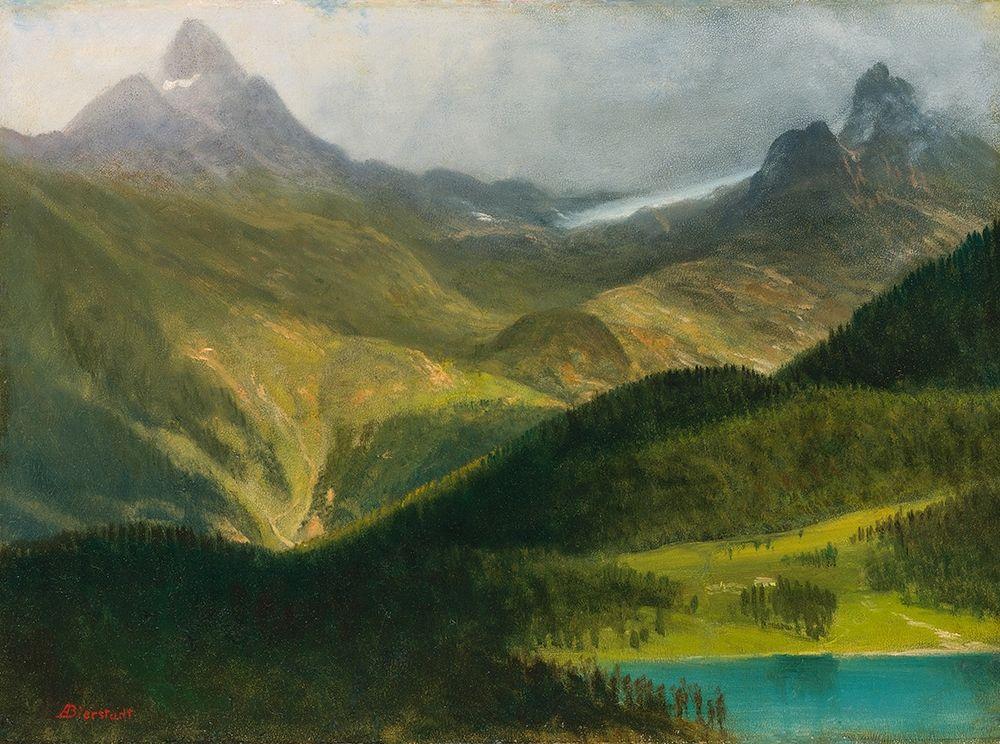 konfigurieren des Kunstdrucks in Wunschgröße Mountain landscape von Bierstadt, Albert