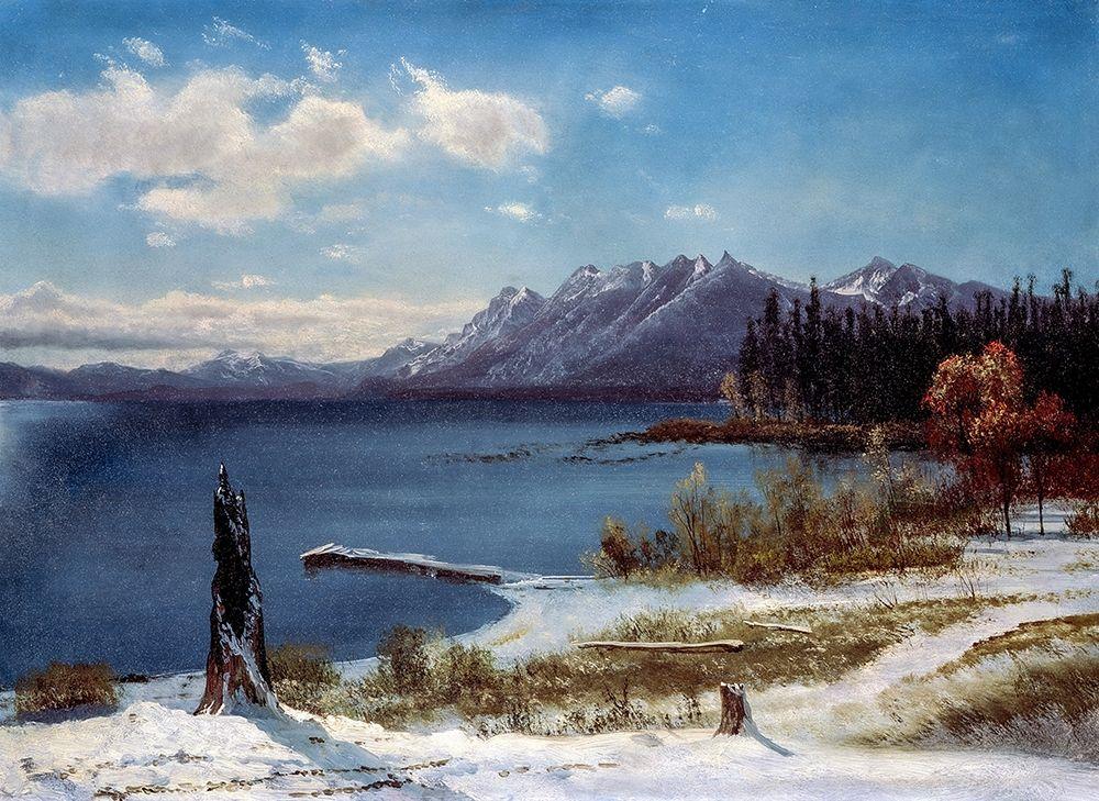 konfigurieren des Kunstdrucks in Wunschgröße Lake Tahoe in winter von Bierstadt, Albert