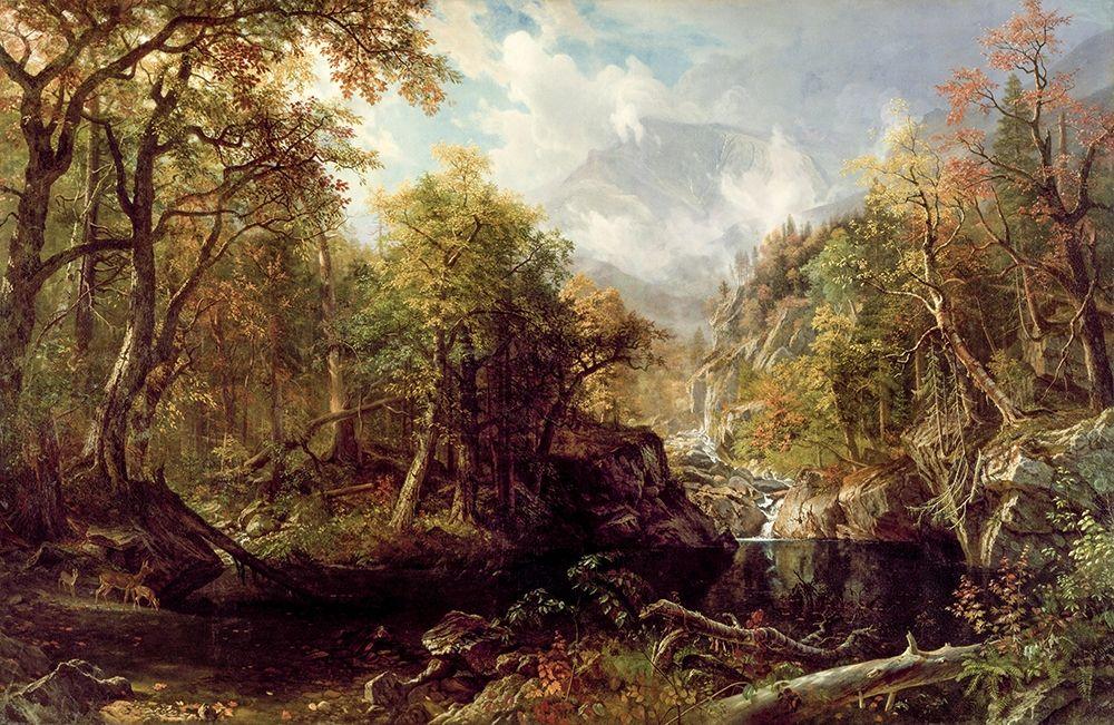 konfigurieren des Kunstdrucks in Wunschgröße The Emerald Pool von Bierstadt, Albert