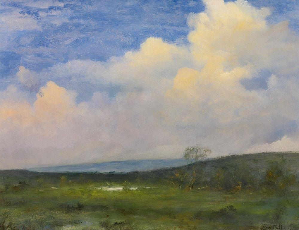 konfigurieren des Kunstdrucks in Wunschgröße Clouds Over California von Bierstadt, Albert