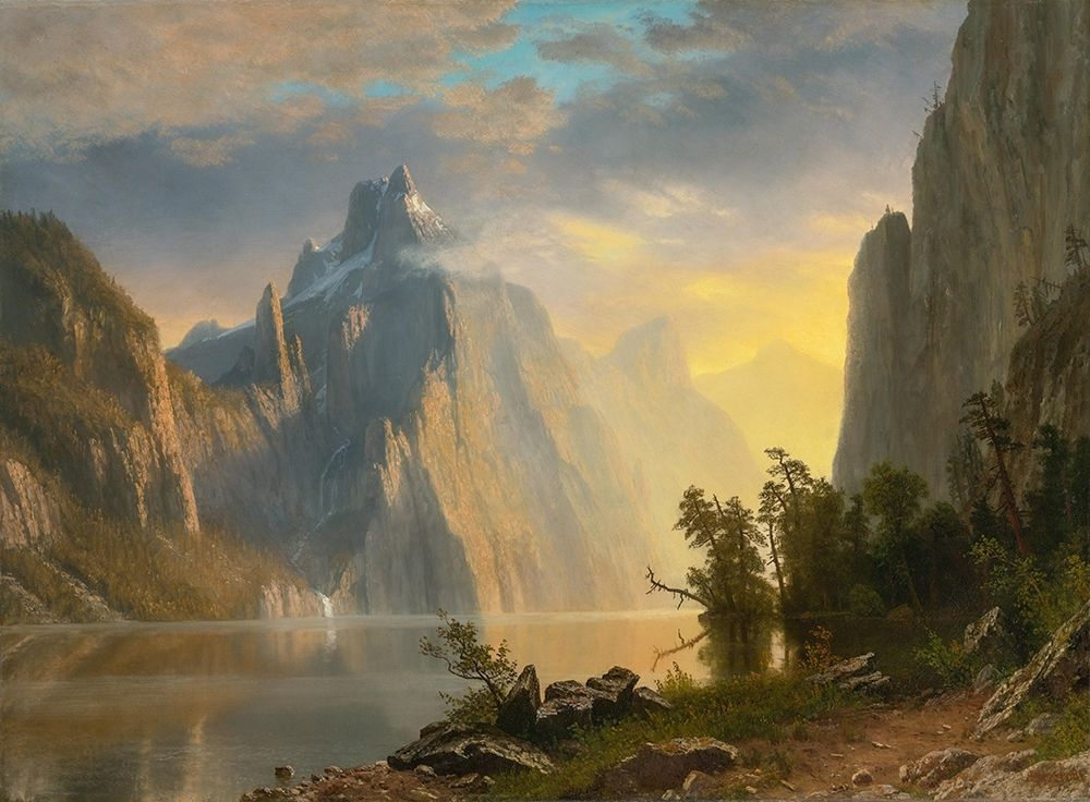konfigurieren des Kunstdrucks in Wunschgröße Lake in the Sierra Nevada von Bierstadt, Albert