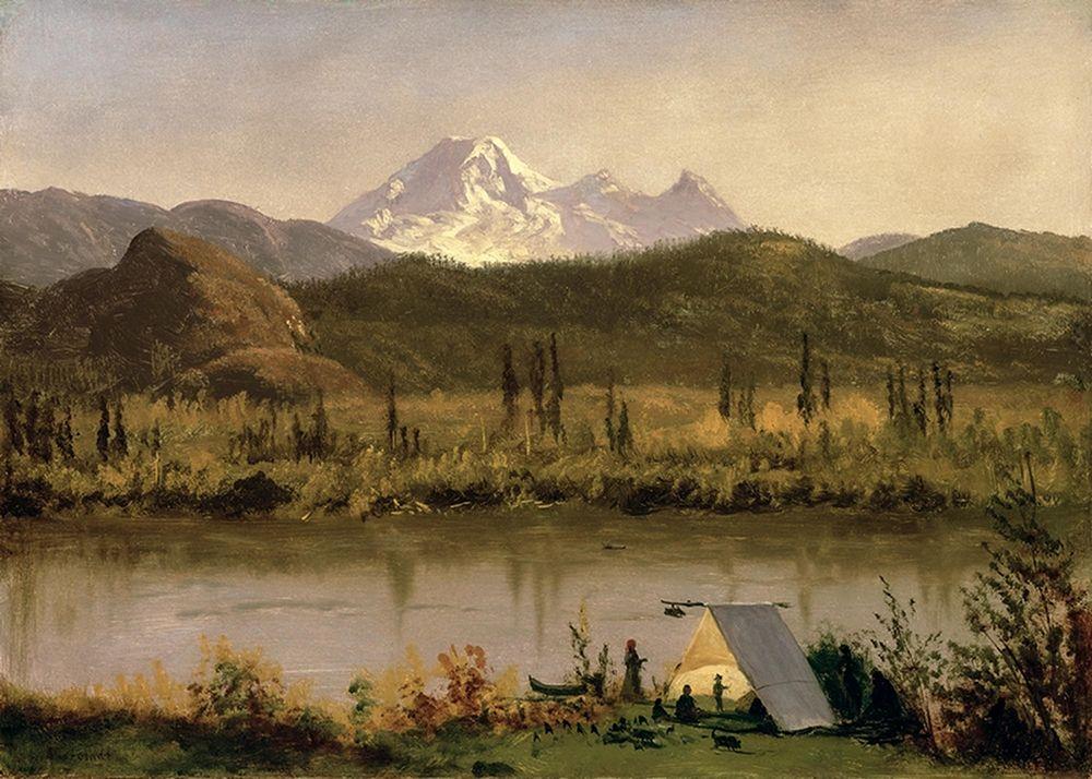 konfigurieren des Kunstdrucks in Wunschgröße Mount Baker, Washington, from the Frazier River von Bierstadt, Albert