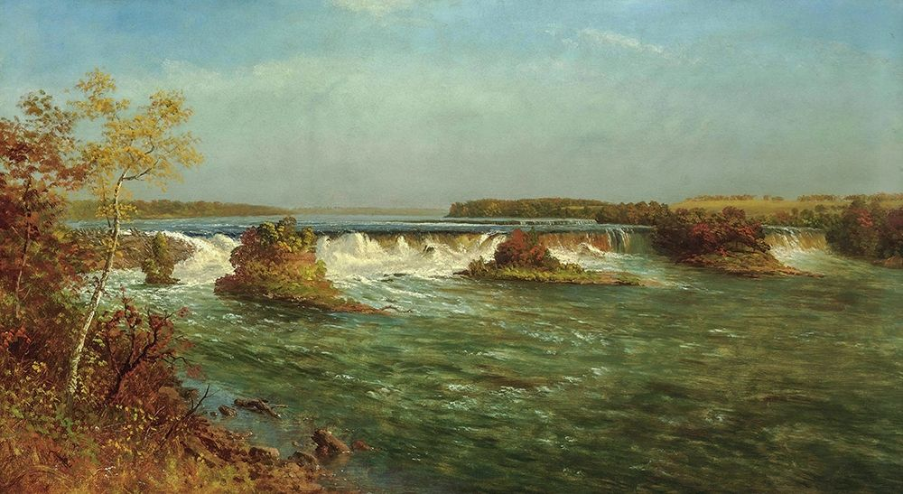 konfigurieren des Kunstdrucks in Wunschgröße The Falls of Saint Anthony von Bierstadt, Albert